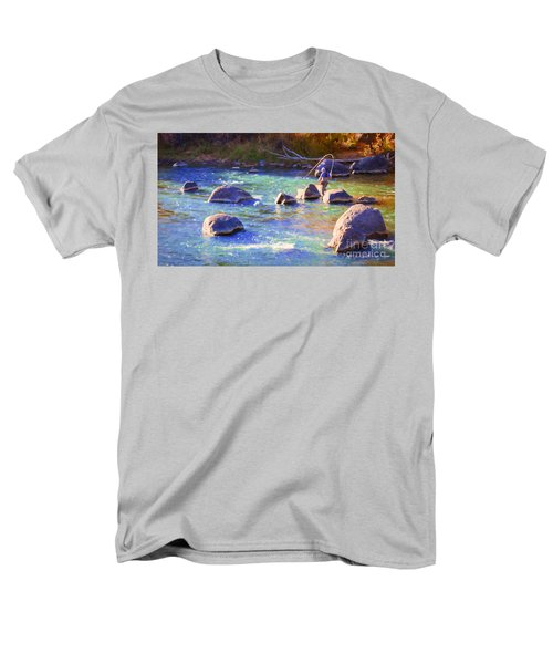Animas River Fly Fishing Men's T-Shirt  (Regular Fit) by Janice Rae Pariza