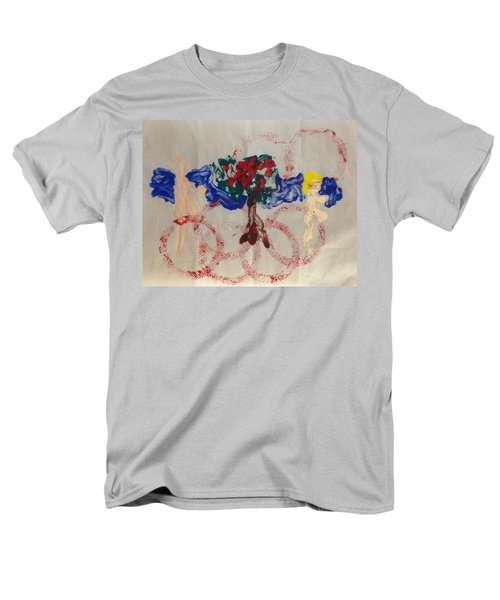 Men's T-Shirt  (Regular Fit) featuring the painting Apple Rings by Erika Chamberlin