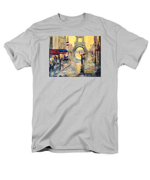 Men's T-Shirt  (Regular Fit) featuring the painting April In Paris by Alan Lakin