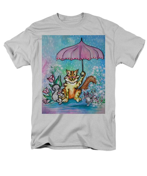 Men's T-Shirt  (Regular Fit) featuring the painting April Showers by Leslie Manley