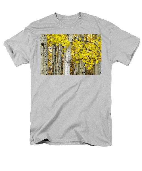 Aspens At Autumn Men's T-Shirt  (Regular Fit) by Andrew Soundarajan