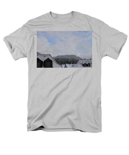 Men's T-Shirt  (Regular Fit) featuring the photograph Attic Windows Open To The Sky by Felicia Tica