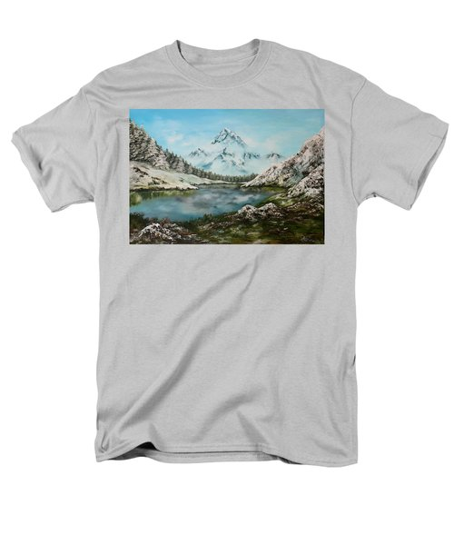 Men's T-Shirt  (Regular Fit) featuring the painting Austrian Lake by Jean Walker