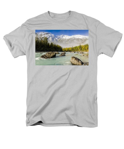 Autumns Colors Contrast With Winters Men's T-Shirt  (Regular Fit) by Ray Bulson