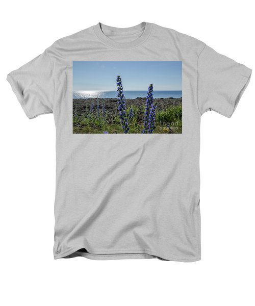 Backlit Blue Flowers  Men's T-Shirt  (Regular Fit) by Kennerth and Birgitta Kullman