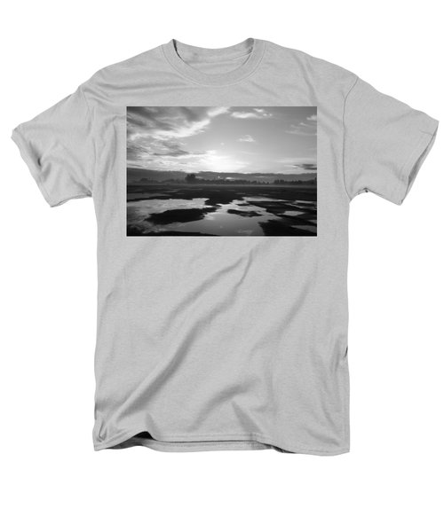 Men's T-Shirt  (Regular Fit) featuring the photograph Bakersfield In Black And White by Meghan at FireBonnet Art