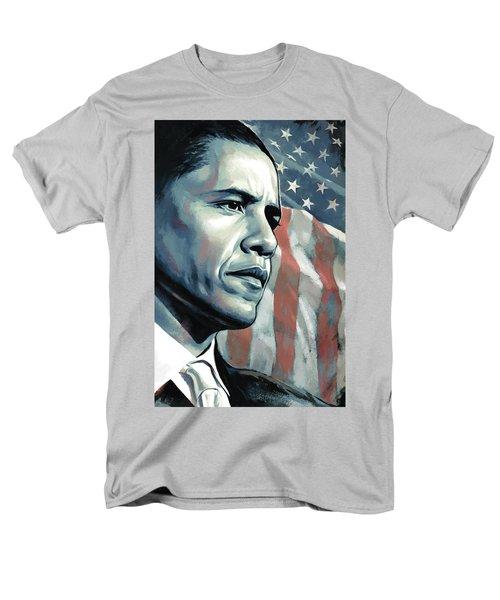 Barack Obama Artwork 2 B Men's T-Shirt  (Regular Fit) by Sheraz A