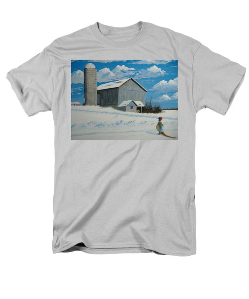Barn And Pheasant Men's T-Shirt  (Regular Fit) by Norm Starks