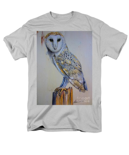 Men's T-Shirt  (Regular Fit) featuring the painting Barn Owl by Laurianna Taylor
