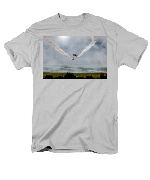 Men's T-Shirt  (Regular Fit) featuring the photograph Barnstormer Late Afternoon Smoking Session by Chris Lord