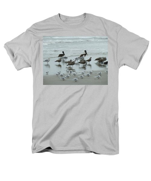 Beach Birds Men's T-Shirt  (Regular Fit) by Judith Morris
