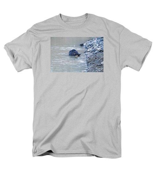 Beaver Chews On Stick Men's T-Shirt  (Regular Fit) by Chris Flees