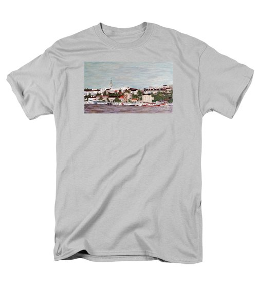 Men's T-Shirt  (Regular Fit) featuring the painting Belgrade Serbia by Jasna Gopic