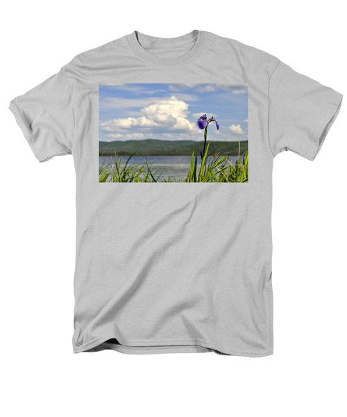 Men's T-Shirt  (Regular Fit) featuring the photograph Birch Lake Iris by Cathy Mahnke
