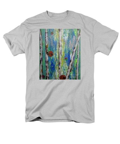 Birch - Lt. Green 4 Men's T-Shirt  (Regular Fit) by Jacqueline Athmann