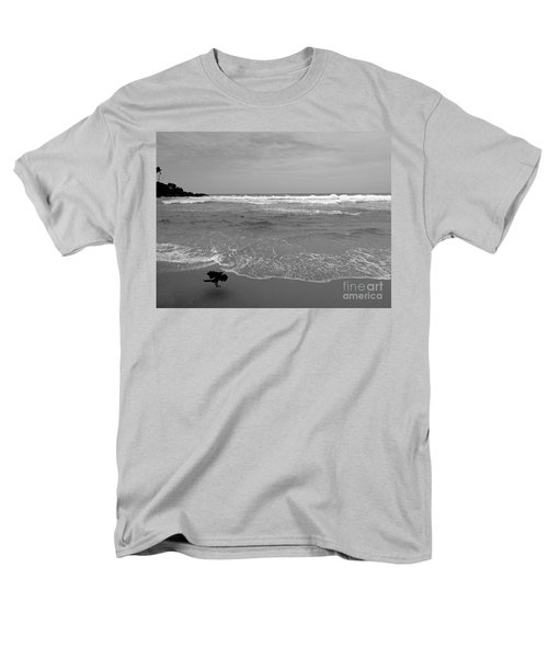 Bird On Kovalam Beach Men's T-Shirt  (Regular Fit) by Mini Arora