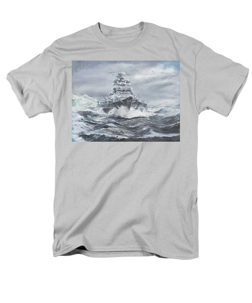 Bismarck Off Greenland Coast  Men's T-Shirt  (Regular Fit) by Vincent Alexander Booth