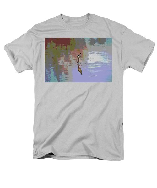 Men's T-Shirt  (Regular Fit) featuring the photograph Black Neck Stilt Out In The Pond by Tom Janca