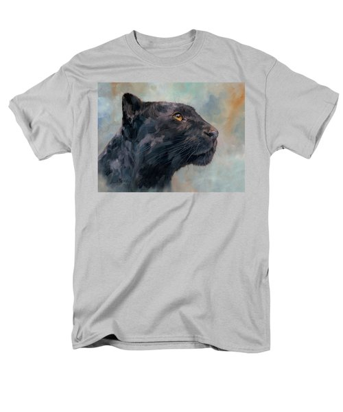 Black Panther Men's T-Shirt  (Regular Fit) by David Stribbling