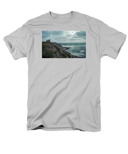 Block Island South East Lighthouse Men's T-Shirt  (Regular Fit) by Skip Willits