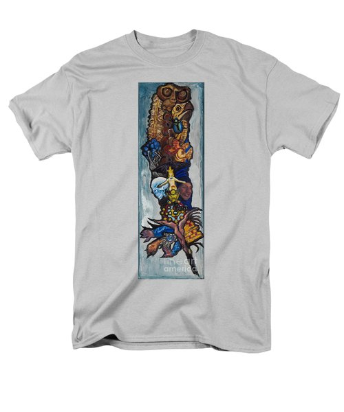 Blue Crow Feather- Crow Series Men's T-Shirt  (Regular Fit) by Emily McLaughlin