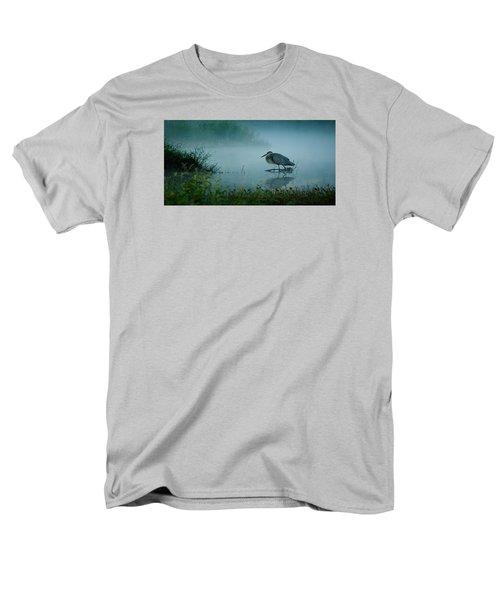 Blue Heron Morning Men's T-Shirt  (Regular Fit) by Deborah Smith