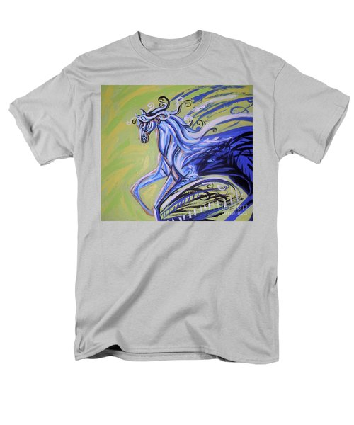 Blue Horse Men's T-Shirt  (Regular Fit) by Genevieve Esson