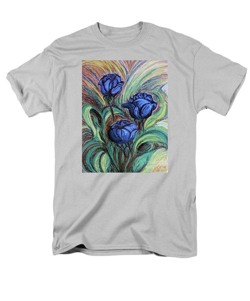 Blue Roses Men's T-Shirt  (Regular Fit) by Jasna Dragun