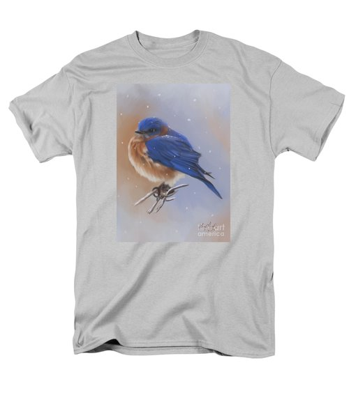 Bluebird In The Snow Men's T-Shirt  (Regular Fit) by Lena Auxier