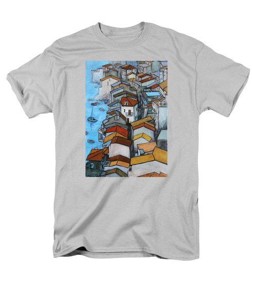 Boats In Front Of The Buildings Iv Men's T-Shirt  (Regular Fit)