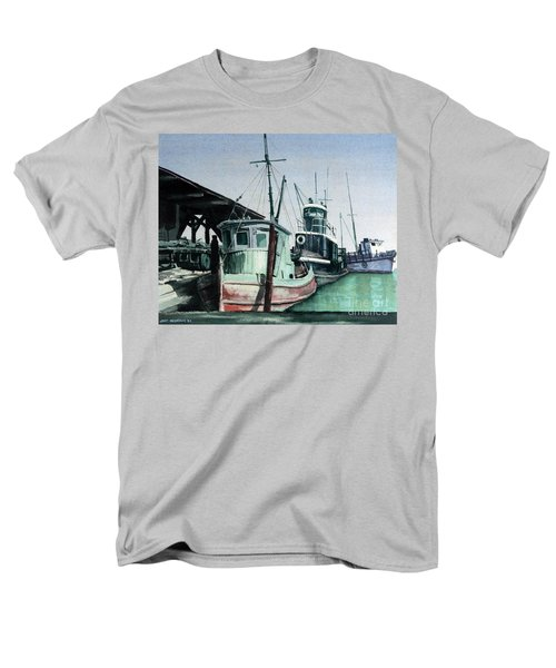 Men's T-Shirt  (Regular Fit) featuring the painting Boats by Joey Agbayani