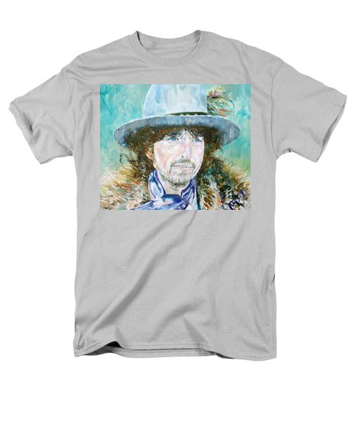Bob Dylan Oil Portrait Men's T-Shirt  (Regular Fit) by Fabrizio Cassetta