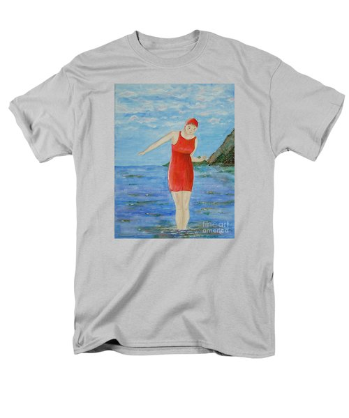 Men's T-Shirt  (Regular Fit) featuring the painting Bold Red by Tamyra Crossley