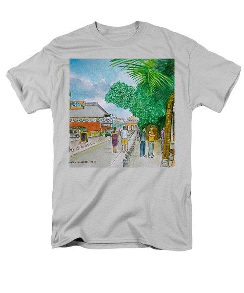 Bonaire Street Men's T-Shirt  (Regular Fit) by Frank Hunter