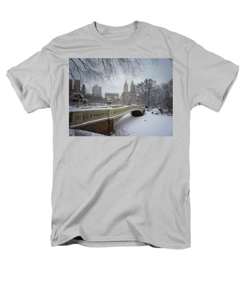 Bow Bridge Central Park In Winter  Men's T-Shirt  (Regular Fit) by Vivienne Gucwa