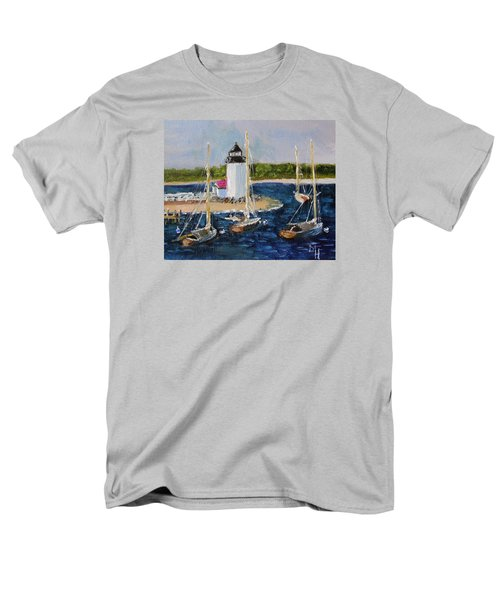 Brant Lighthouse Nantucket Men's T-Shirt  (Regular Fit) by Michael Helfen