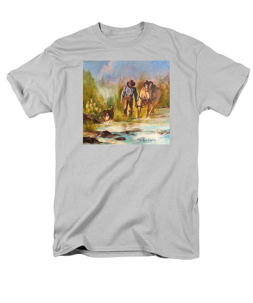 Men's T-Shirt  (Regular Fit) featuring the painting Break For The Ride by Karen Kennedy Chatham