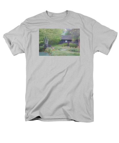 Men's T-Shirt  (Regular Fit) featuring the painting Bridge To Harmony by Debra     Vatalaro