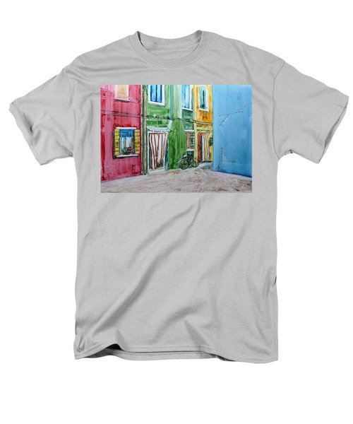 Men's T-Shirt  (Regular Fit) featuring the painting Burano by Anna Ruzsan