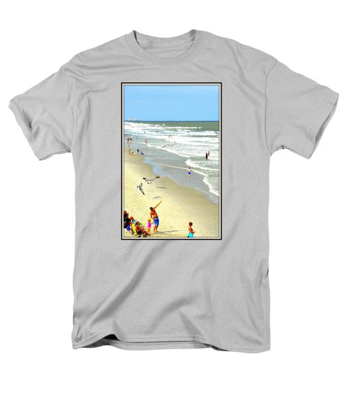 But Daddy Why Cant I Feed The Birds Men's T-Shirt  (Regular Fit) by Kathy Barney