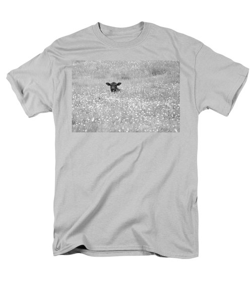 Buttercup In Black-and-white Men's T-Shirt  (Regular Fit) by JD Grimes