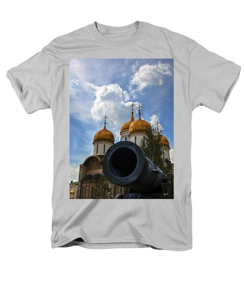 Cannon And Cathedral  - Russia Men's T-Shirt  (Regular Fit) by Madeline Ellis