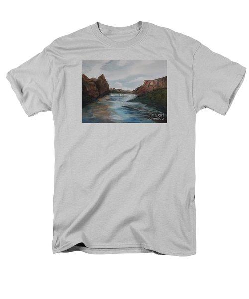 Men's T-Shirt  (Regular Fit) featuring the painting Canyon De Chelly by Ellen Levinson