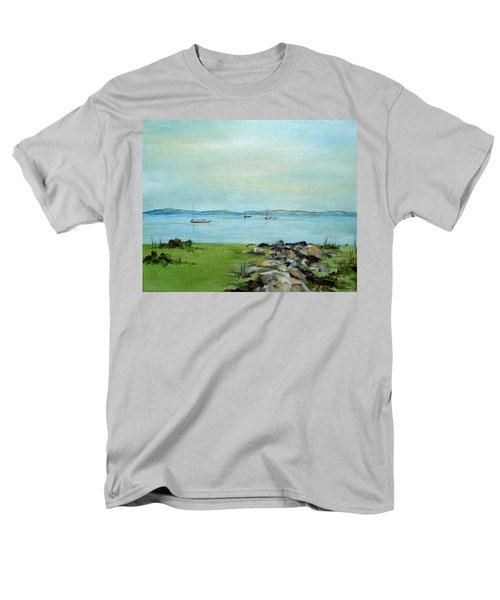Cape Cod  Boats Men's T-Shirt  (Regular Fit) by Judith Rhue