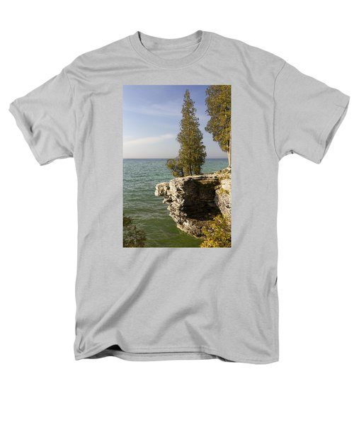 Cave Point - Signed Men's T-Shirt  (Regular Fit) by Barbara Smith