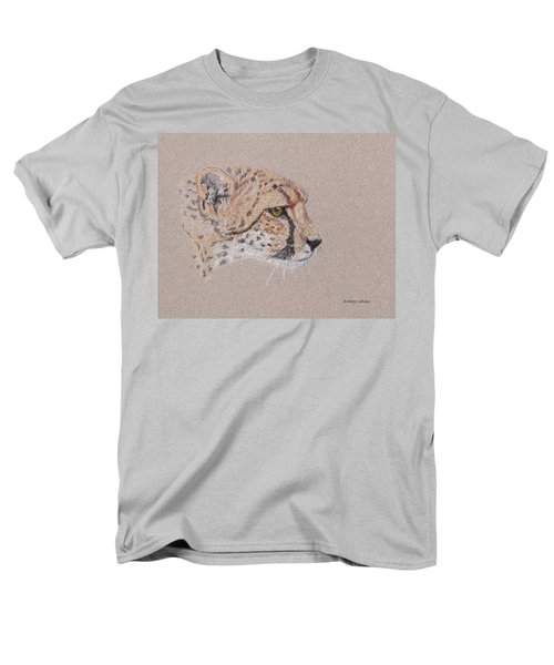 Men's T-Shirt  (Regular Fit) featuring the drawing Cheetah by Stephanie Grant