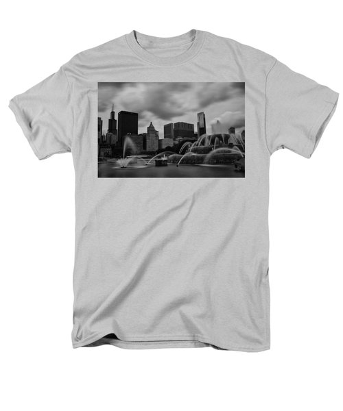Chicago City Skyline Men's T-Shirt  (Regular Fit) by Miguel Winterpacht