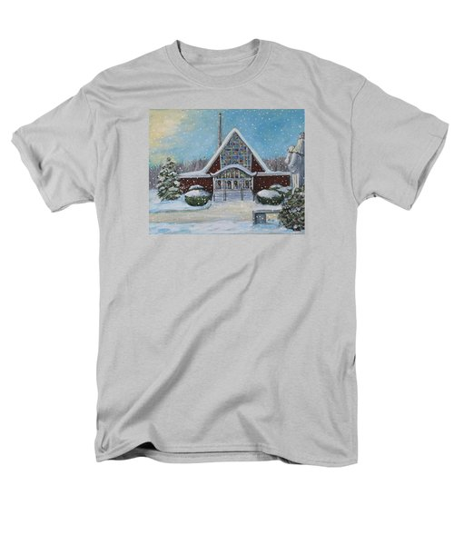 Christmas Morning At Our Lady's Church Men's T-Shirt  (Regular Fit) by Rita Brown