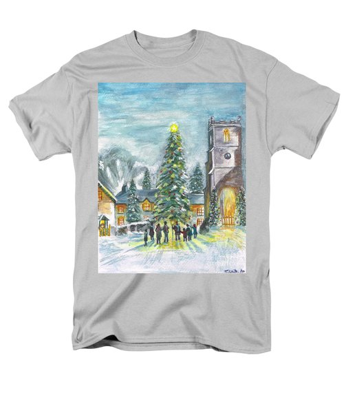 Christmas Spirit Men's T-Shirt  (Regular Fit) by Teresa White