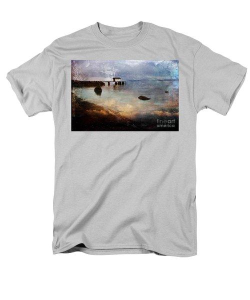 Coastal Path Men's T-Shirt  (Regular Fit) by Randi Grace Nilsberg